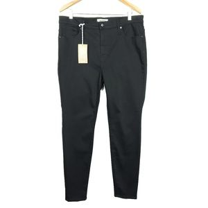 "Madewell 9"" High Rise Skinny Black Stretch Jeans"